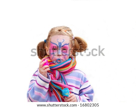 colorful girl - stock photo