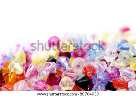 Colorful glass beads background (texture) - stock photo
