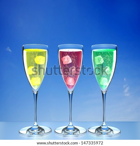 colorful glass cup for adv or others purpose use