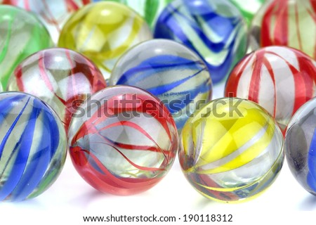 Colorful glass marbles. macro image - stock photo