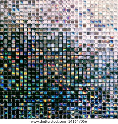Colorful glass tiles texture background - stock photo