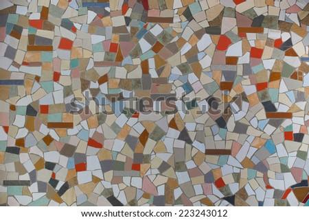 colorful glazed tile  - stock photo