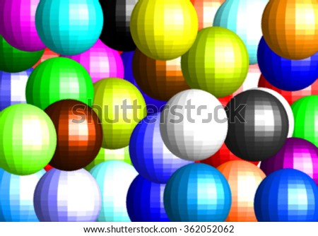 Colorful glossy glass balls pattern