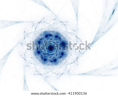 Colorful glowing neuron fractal - stock photo