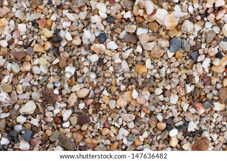 Colorful gravel Background on the sea beach