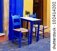 colorful Greece - traditional street taverna - stock photo