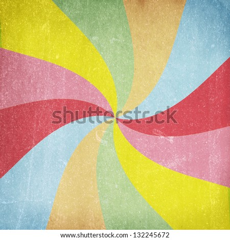 Colorful grunge swirl background - stock photo