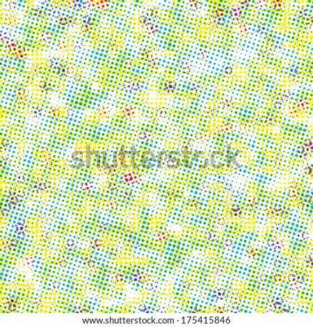 colorful halftone background - stock photo