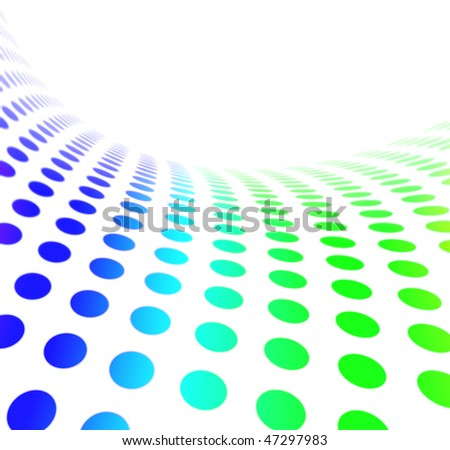 Colorful Halftone Dot Pattern - stock photo