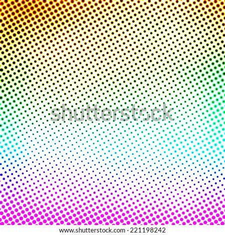 colorful halftone pattern - stock photo