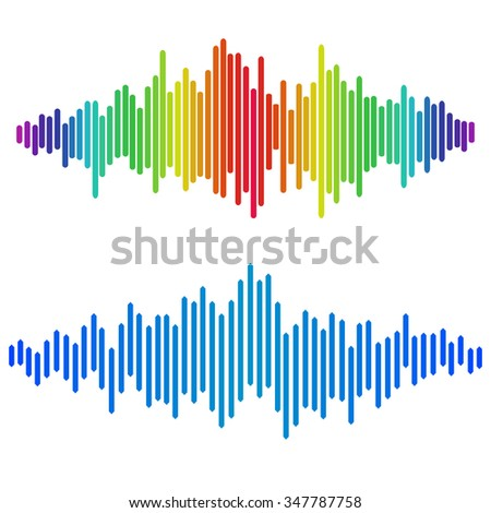 colorful halftone vector sound waves music stock illustration rh shutterstock com sound wave vector png sound wave vector ai