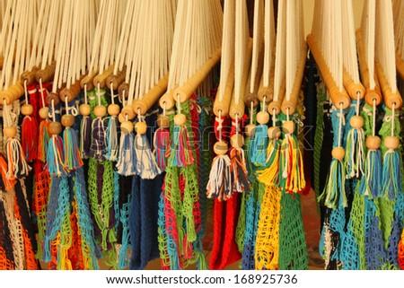 Colorful Hammocks for sale in Granada, Nicaragua - stock photo