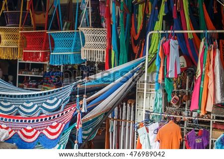 colorful hammocks for sale in masaya nicaragua colorful hammocks sale masaya nicaragua stock photo 476989042      rh   shutterstock
