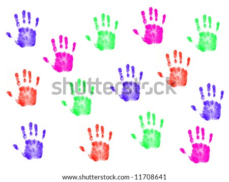 Colorful Hanprints