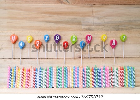 Colorful happy birthday candles  - stock photo