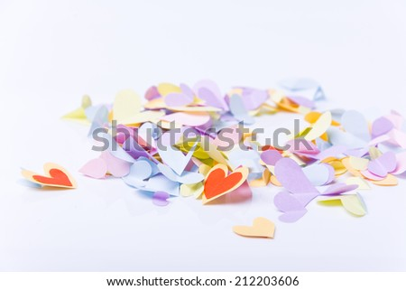 colorful heart by paper isolated - stock photo