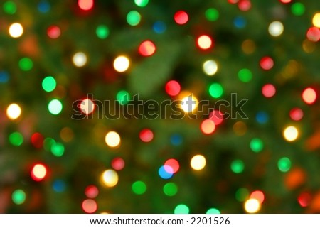Colorful holiday lights. - stock photo
