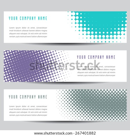 Colorful Horizontal Banners - stock photo