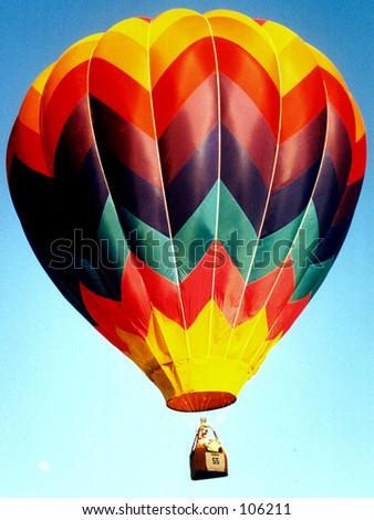 Colorful Hot Air Balloon - stock photo
