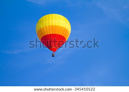 colorful hot air balloon on blue sky
