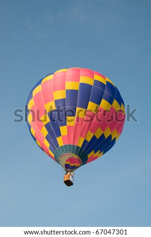 colorful hot air balloon with blue sky