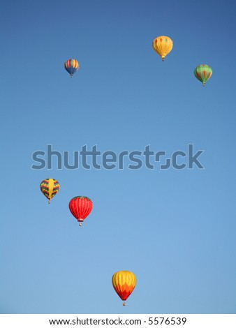 Colorful Hot Air Balloons Up High