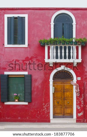 Colorful house in Venice, Italy - stock photo