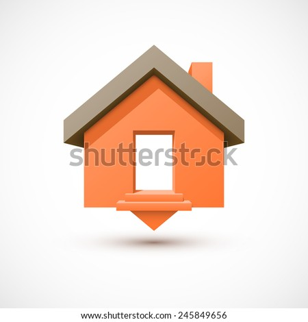 Colorful house pointer. - stock photo