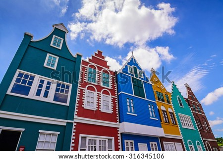 Colorful Houses. - stock photo