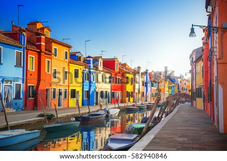 Colourful Houses Stock Images Royalty Free Images