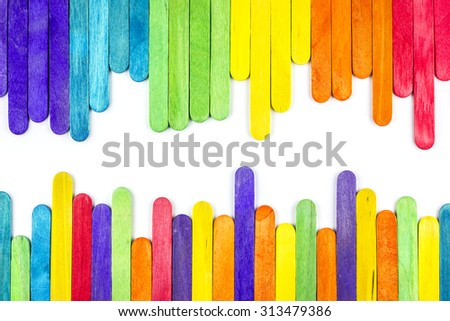 colorful ice cream stick , ice cream stick art