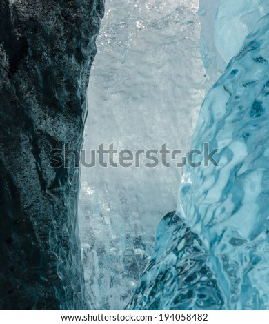 Colorful ice on the beach of Jokulsarlon ice lagoon - stock photo