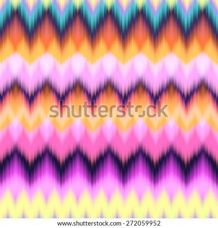 colorful ikat stripe ~ seamless background - stock photo