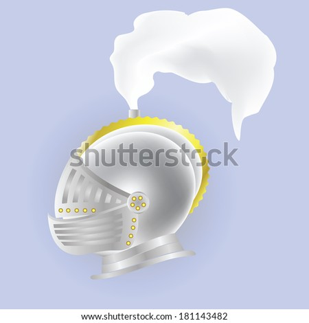 colorful illustration with knights  helmet for your design - stock photo