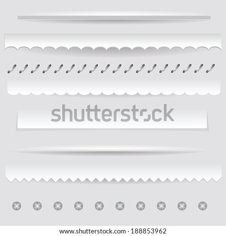 colorful illustration with  set of dividers on a gray background for your design - stock photo