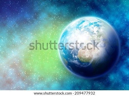 Colorful image of Earth planet. Elements of this image are furnished by NASA