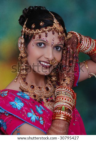 Colorful Indian bride
