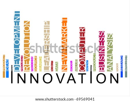 colorful innovation  bar code - stock photo
