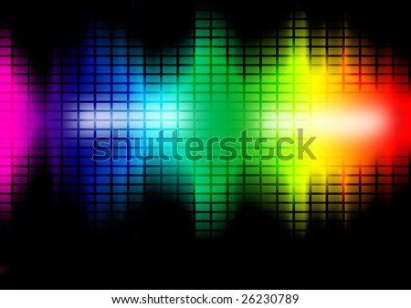 Colorful intensity level bars. Music frequency equalizer illustration