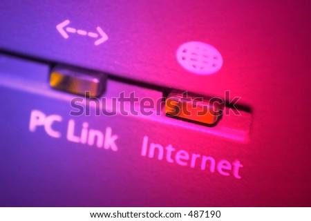 Colorful internet led - stock photo