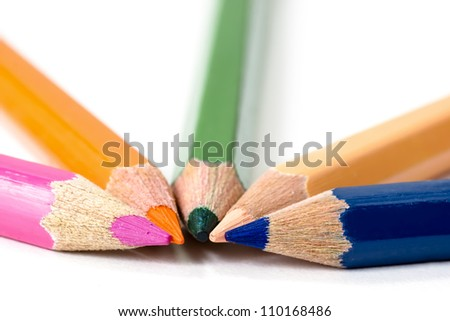 Colorful kid color pencils