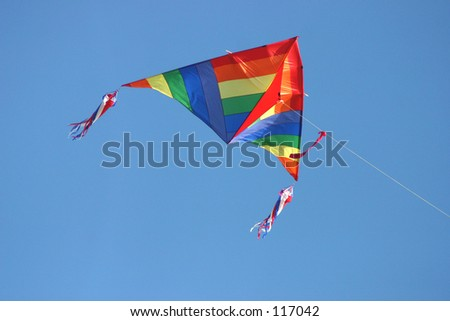colorful kite - blue sky