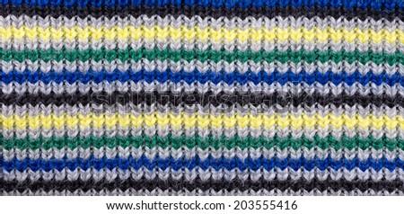 Colorful knitting background close up - stock photo