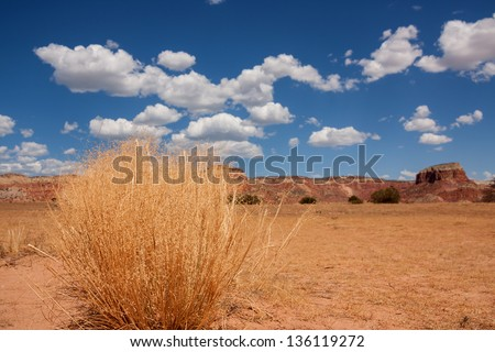 Colorful landscape and scenery in New Mexico near Ghost Ranch - stock photo