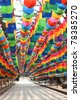Colorful lanterns for Buddhist festival in Busan, Korea - stock photo