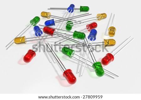 Colorful leds - stock photo