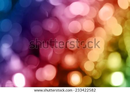 Colorful light bokeh background on celebration night  - stock photo