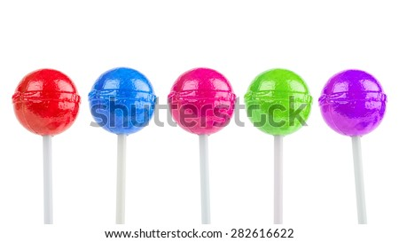 colorful lollipops - stock photo
