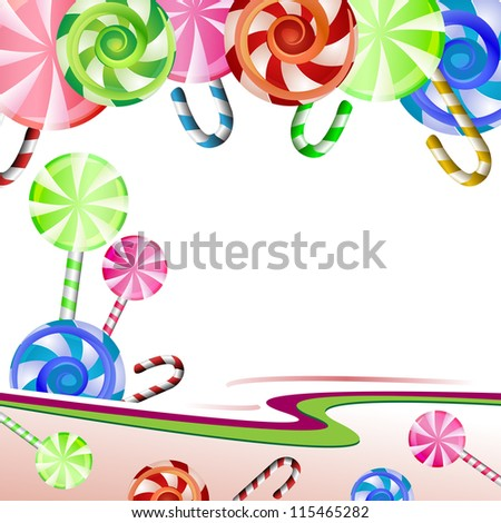 Colorful lollipops backgrounds illustration