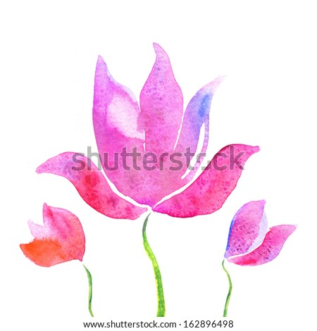 Colorful lotus flowers watercolor background stock illustration colorful lotus flowers watercolor background mightylinksfo